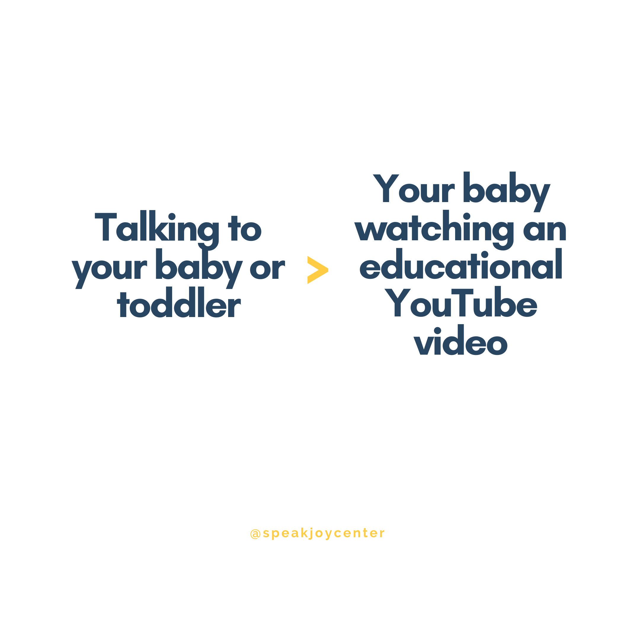 talk to your baby