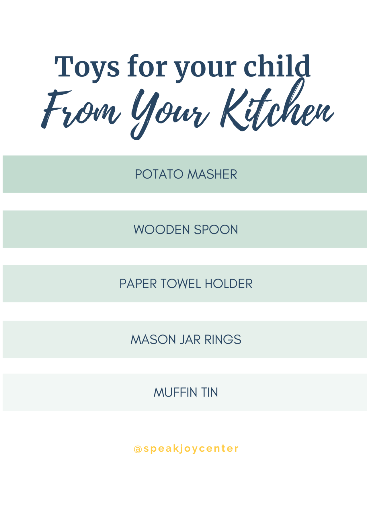 Discover new toys in your kitchen