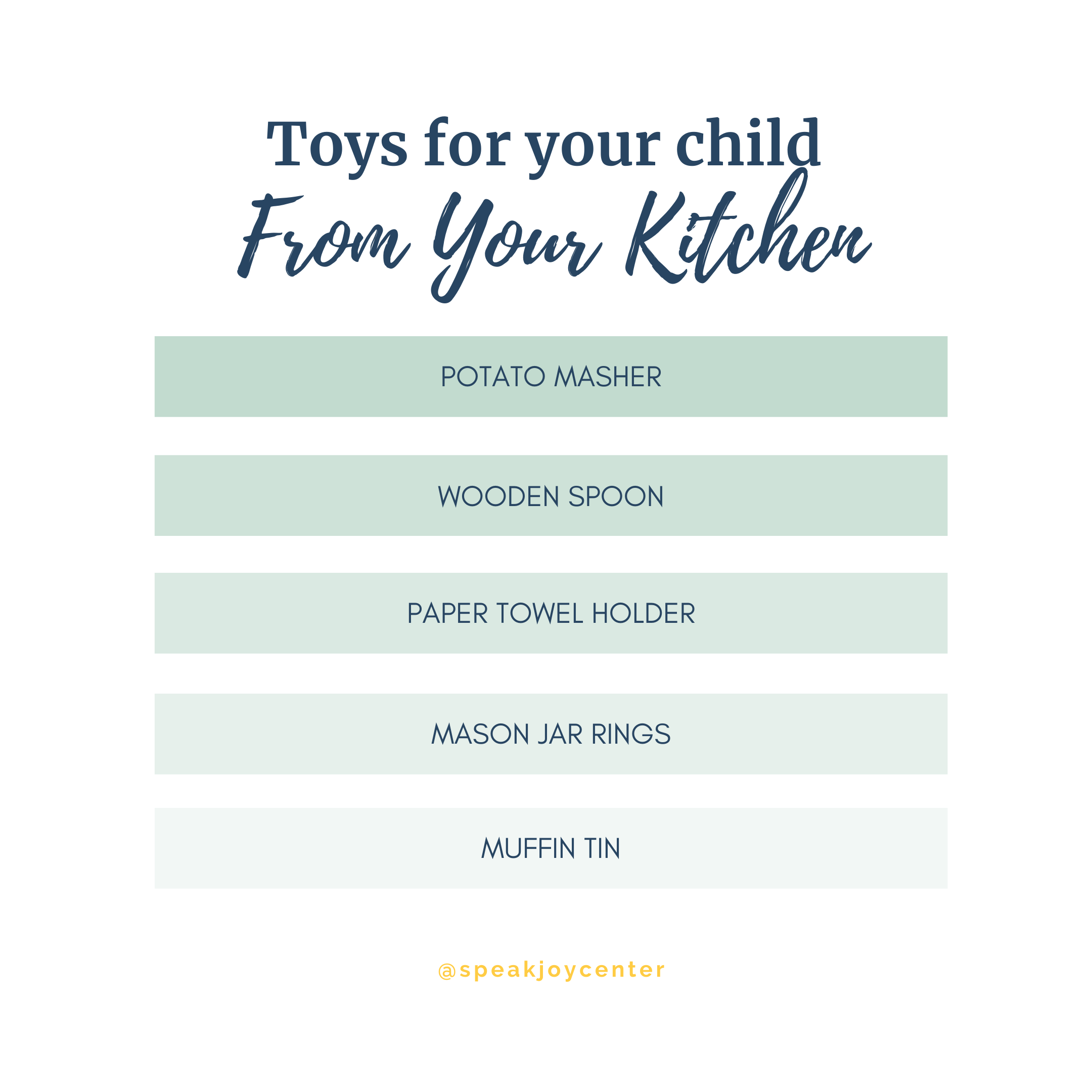 find toys for your child in your kitchen