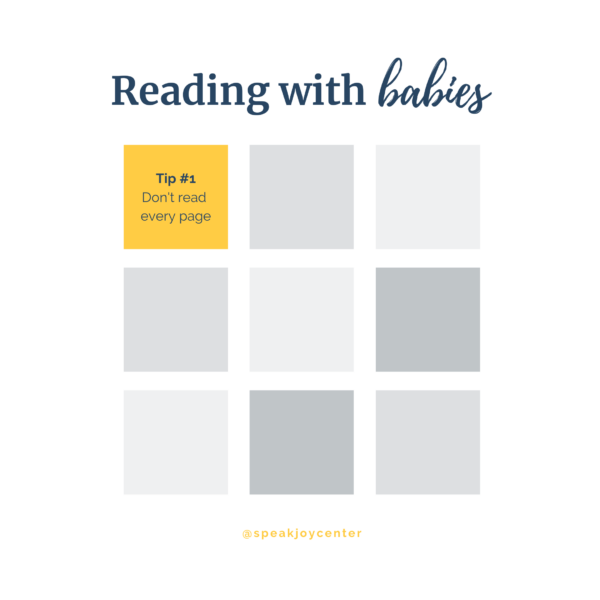 Reading with Babies: Tip #1