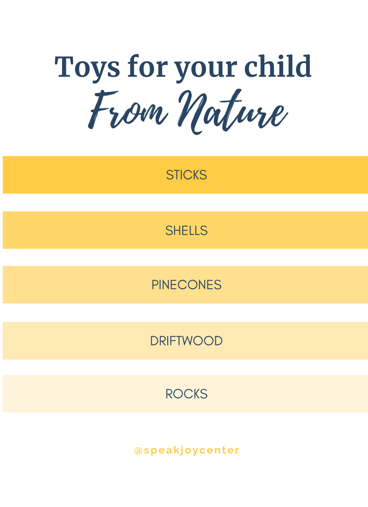 Toys from Nature